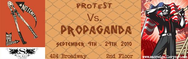 Protest Web Banner (Artists shown Josh MacPhee & Aidan Hughes)